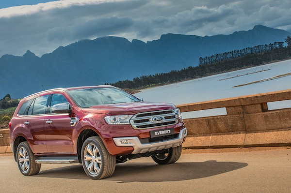 Ford Everest Thailand October 2015