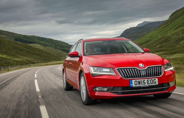 Skoda Superb Slovakia April 2016