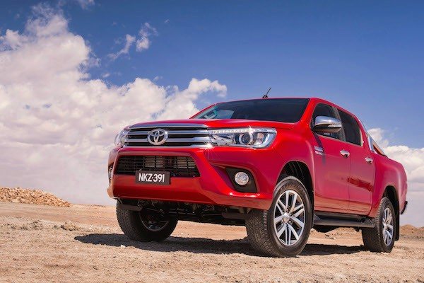 Toyota Hilux Australia August 2016