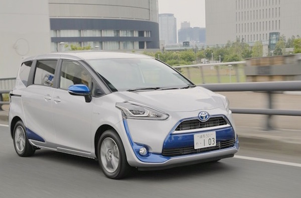 Toyota Sienta Japan October 2015. Picture courtesy yahoo.jp