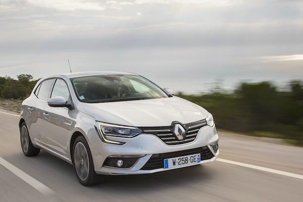 Renault Megane Europe November 2016. Picture courtesy largus.fr