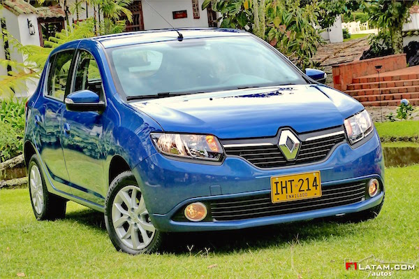Renault Sandero Colombia September 2016. Picture courtesy f1latam.com:autos