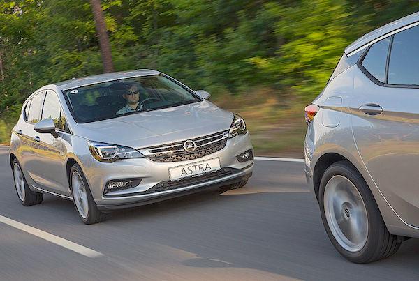 Opel Astra Switzerland June 2016. Picture courtesy autobild.de