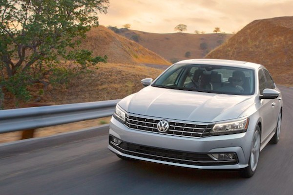VW Passat USA January 2016. Picture courtesy caranddriver.com