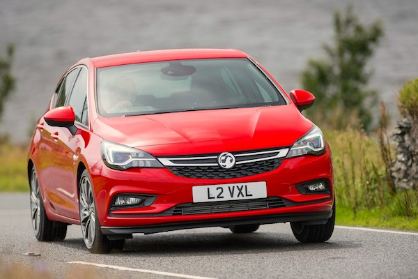 Vauxhall Astra Europe April 2016