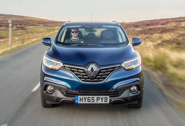 Renault Kadjar UK March 2016