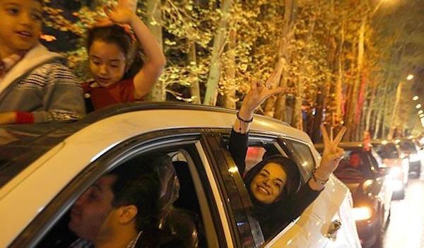 Tehran celebration April 2015. Picture courtesy hinudstantimes.com