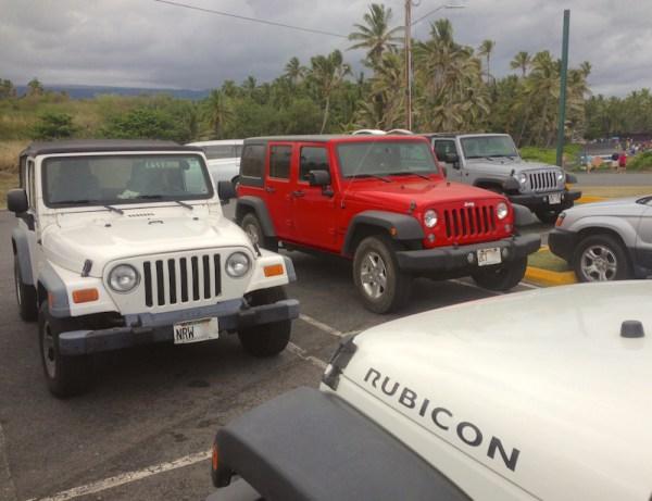 8. Jeep Wrangler Punalu'u