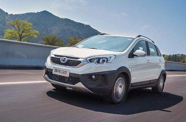 Changhe Q25 China March 2016. Picture courtesy of autohome.com.cn