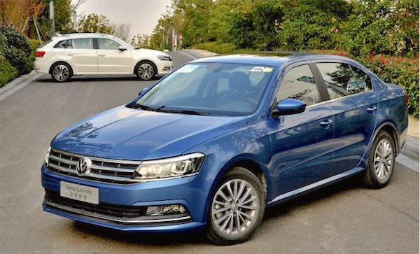 VW Lavida China April 2016. Picture courtesy cheshen.cn