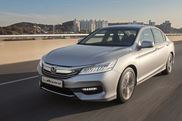 Honda Accord South Korea May 2016. Picture courtesy gpkorea.com