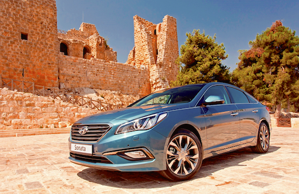 Hyundai Sonata Saudi Arabia April 2016. Picture courtesy karage.tv
