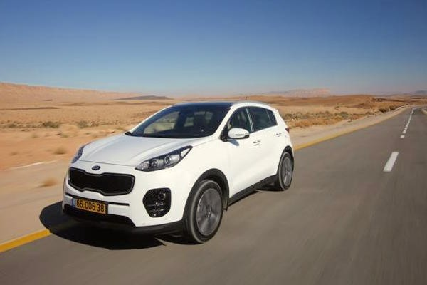 Kia Sportage Israel May 2016. Picture courtesy 4x4.co.il