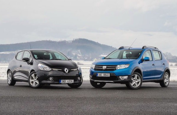 Renault Clio Dacia Sandero France May 2016. Picture courtesy svetmotoru.auto.cz