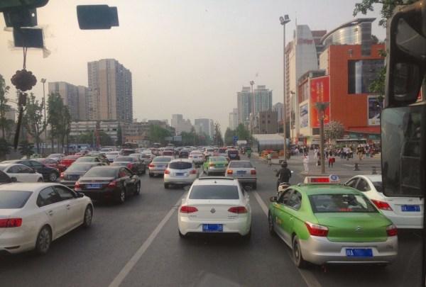 Chengdu street scene China 2016
