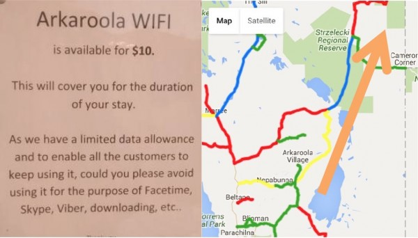 Detour to Innamincka Arkaroola wifi