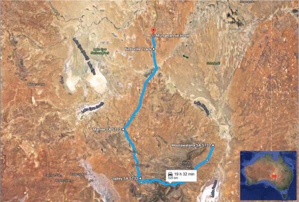 Moolawatana Mungerannie map