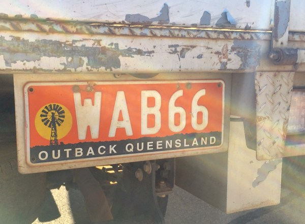 Outback Queensland license plate