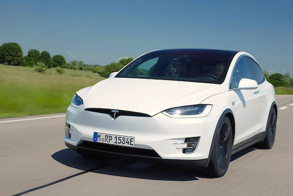 Tesla Model X Netherlands July 2016. Picture courtesy auto-motor-und-sport