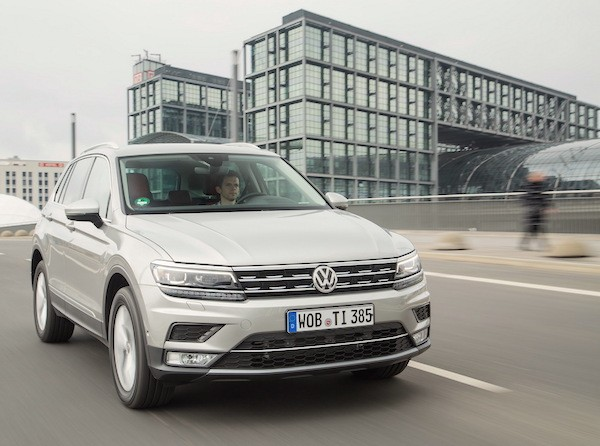 VW Tiguan Germany July 2016. Picture courtesy largus.fr