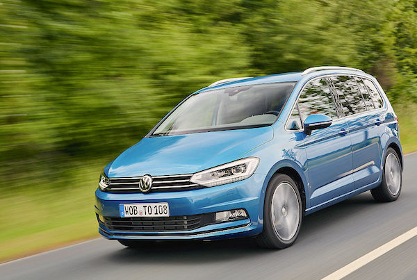 VW Touran Denmark September 2016. Picture courtesy autobild.de