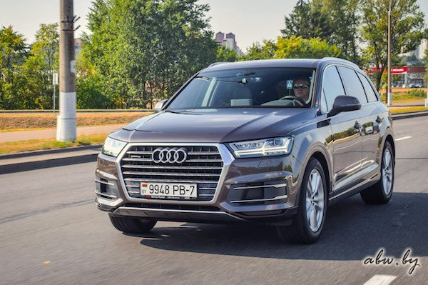 Audi Q7 Belarus June 2016. Picture courtesy abw.by