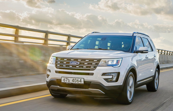 Ford Explorer South Korea July 2016. Picture courtesy autocar.co.kr