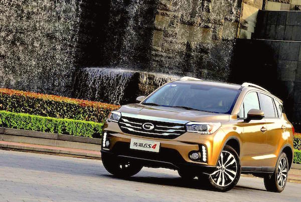 GAC Trumpchi GS4 China July 2016. Picture courtesy qcwp.com