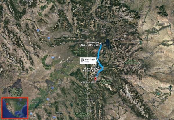 Yellowstone Grand Teton map