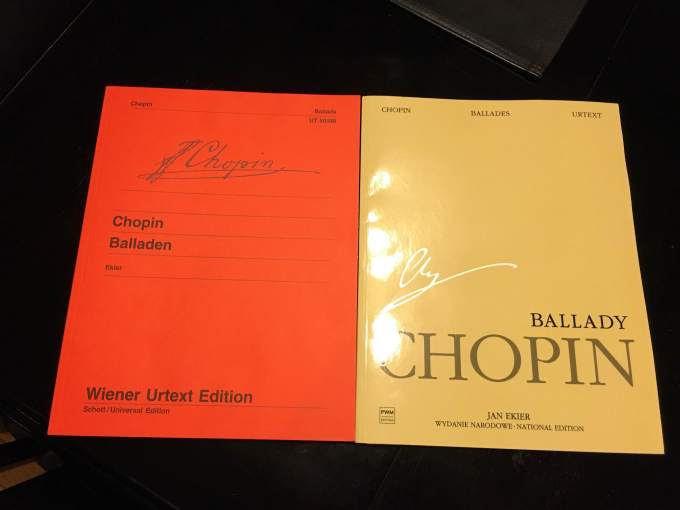 Chopin – National Edition vs Wiener Urtext