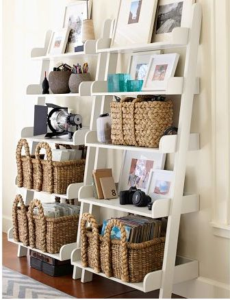Decorations Slim White Minimalistic Wooden Bookshelf In Two Rows With Storage End Design Ideas