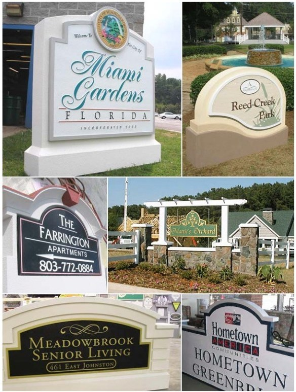 Development Entrance Identity Sign Monuments