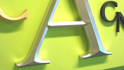 Routed Sign Letters - prismatic routred sign letters