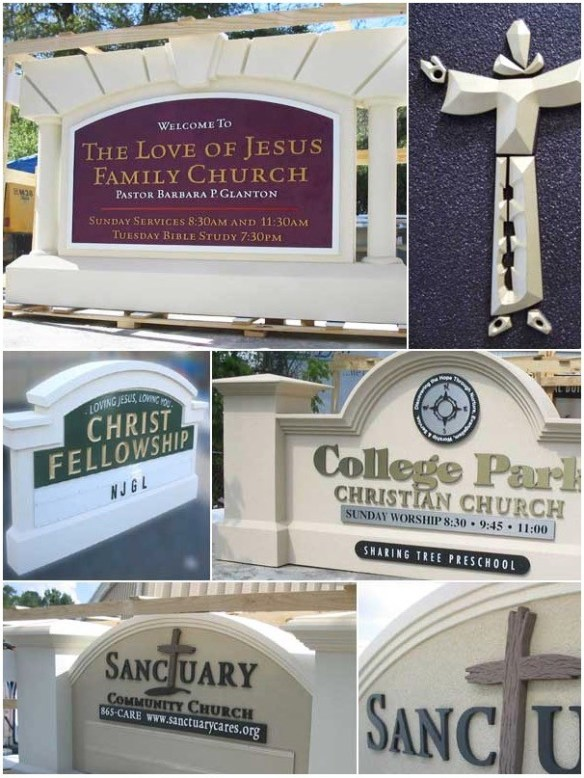 Church Sign Monuments