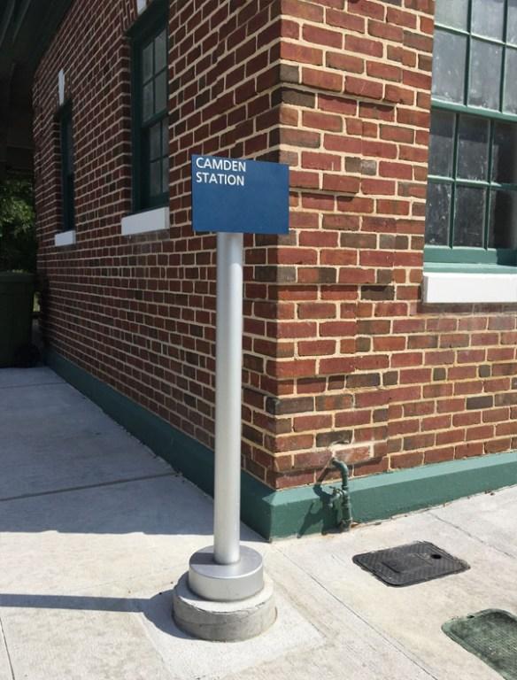 Amtrak Camden, SC Station ADA braille photopolymer signage
