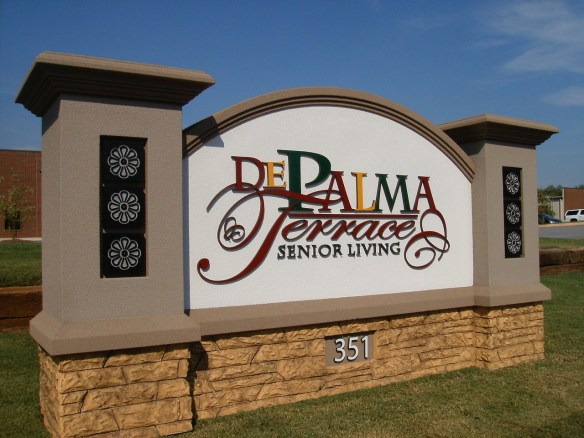 De Palma Terrace Senior Living Community Sign Monument