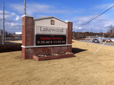 Baptist Church Full-Color LED Sign Monument