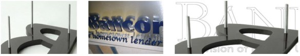 Install Cut Letters & Logos - Install Routed Letters & Logos with Studs