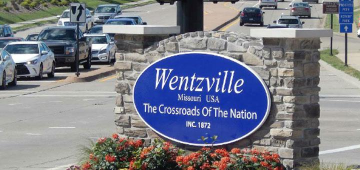 Wentzville, MO real masonry City entrance sign monument