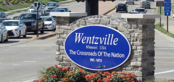 Wentzville, MO real masonry City entrance sign monument