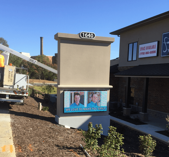 Commercial Business Sign Match Existing Architecture