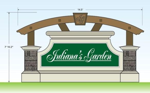 Custom Monument Signs Design - Juliana's Garden