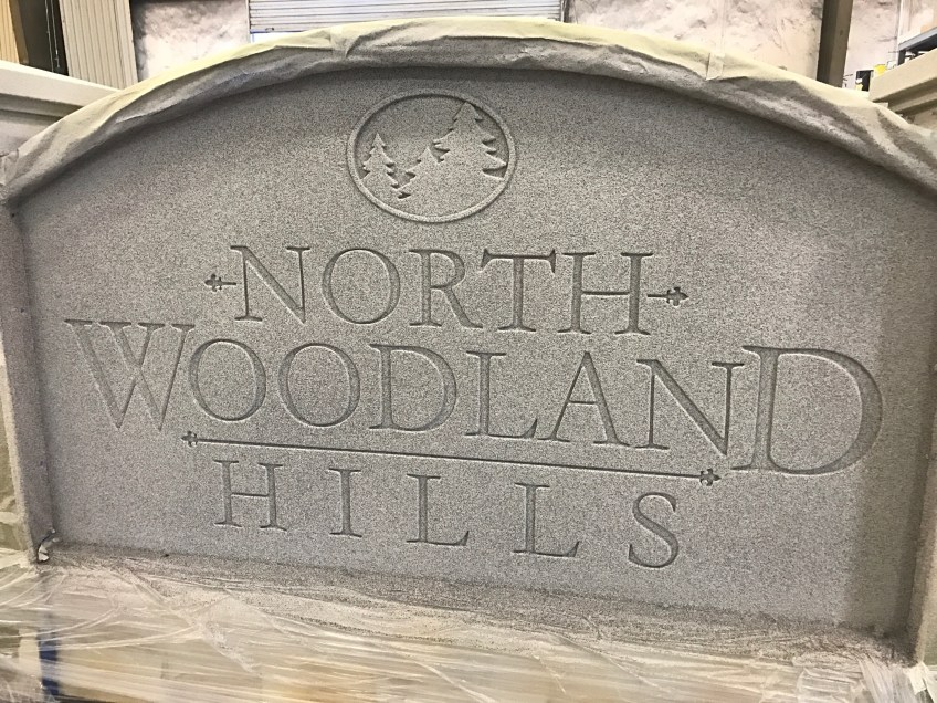 Faux Granite Sign Monument - North Woodland Hills