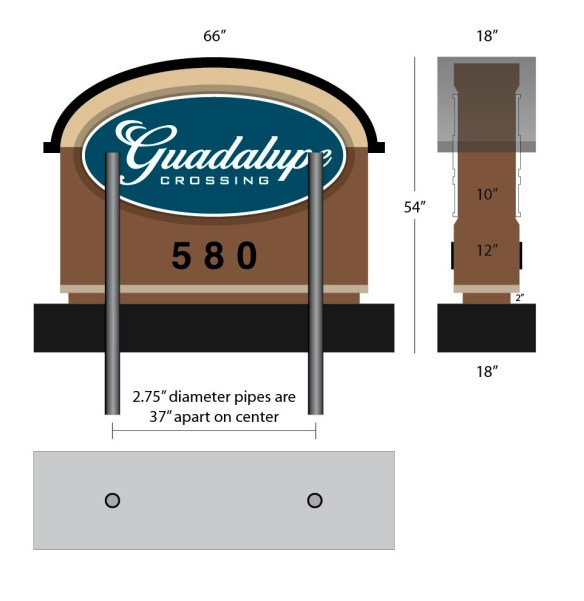 Guadalupe Stone Entrance Sign Monuments Design