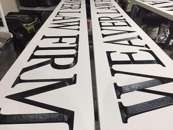 Weaver Law Firm V-Groove Signs Monument SIgn Project