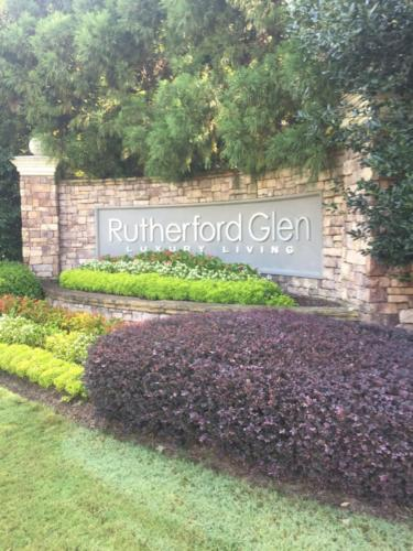 After - CNC Routed Letters Community Entrance Sign Monument