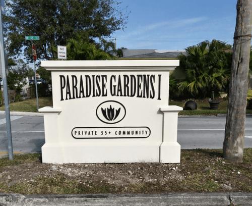Updated Coastal Neighborhood Entrance Sign