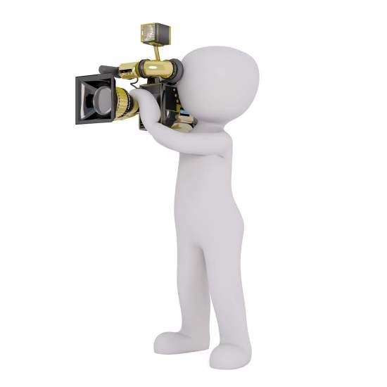 דמות מצלמת עריכת וידאו תמונה לדף