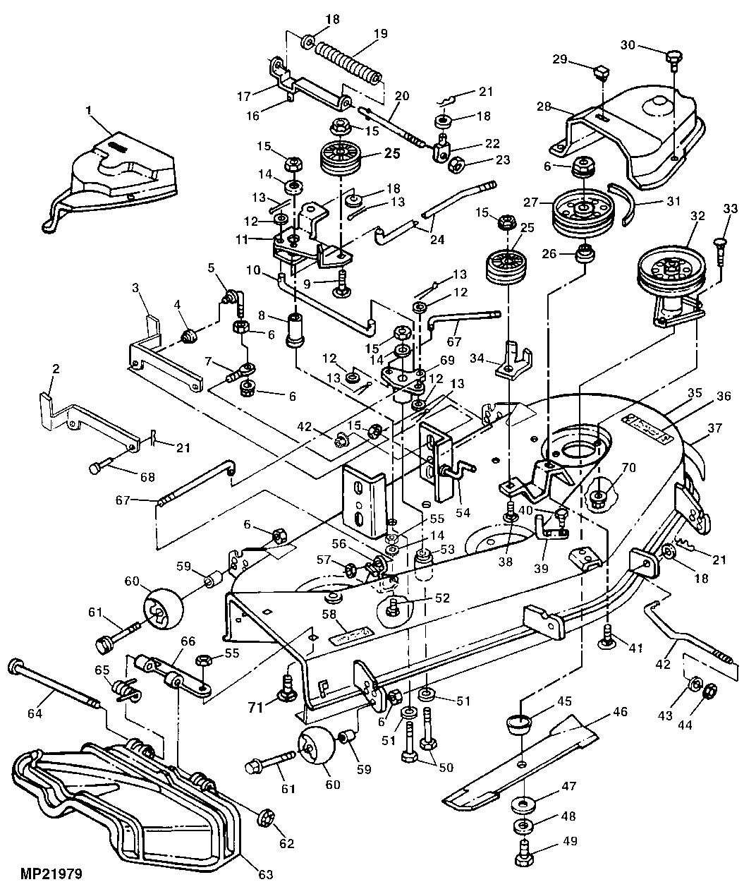 John Deere Lt133 Deck Parts John Deere Parts