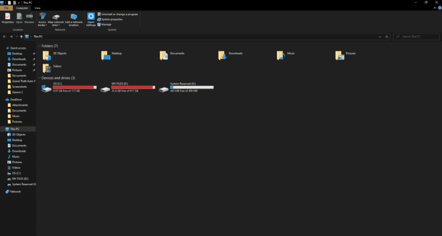 default file explorer